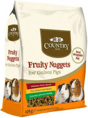 Country Value Fruity Nuggets for Guinea Pigs 10kg 10 kg