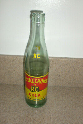 Vintage 10 Oz Royal Crown Cola RC Soda Pop Bottle Antique Duraglas 9-54