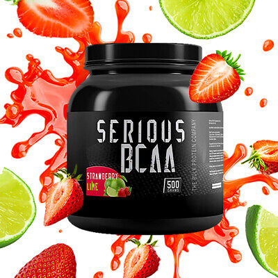 Serious BCAA Powder Intra Workout Pure Amino Acids 500g 100 Servings Strawberry