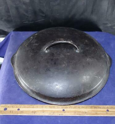 Vintage Cast Iron Lid Cover Possibly Wagner Griswold Kitchenware