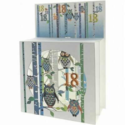 Forever Pop Up 3D Multi-layered Magic Box Card - Age 18 owls