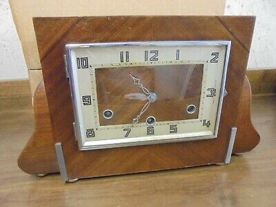 Mahogany Westminster Chime Mantel Clock- Working but needs attention
