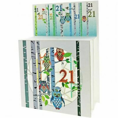 Forever Pop Up 3D Multi-layered Magic Box Card - Owls Age 21