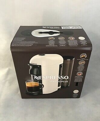 Nespresso Vertuo Plus Capsule Pod White Coffee Machine New RRP £180