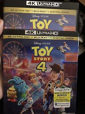 Toy Story 4 (4K + Blu-Ray, 3 Disc NO DIG W/Slipcover. Like New. Ships With Track