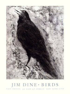 JIM DINE Birds Bird / Crow Print Poster 1994