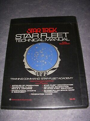 Star Trek Star Fleet Technical Manual, Star Fleet Academy, 1St Print, 1975, Hb!