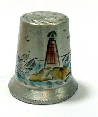 Hand Painted Spoontiques Nautical Pewter Thimble