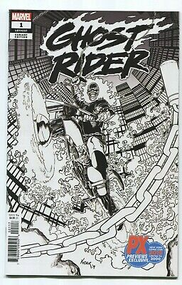 Ghost Rider #1 (2019) NYCC PX Exclusive B&W Sketch Variant! See Scans!