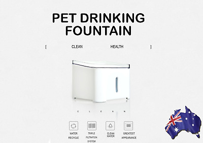 Pet Drinking Fountain For Small And Medium Pets with Triple-Action Filter