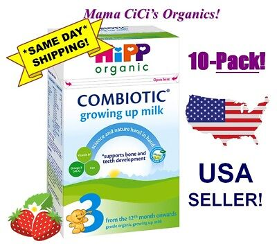 *FREE EXPEDITED SHIP* 10 BOXES HiPP Organic Stage 3 COMBIOTIC Growing Up Formula