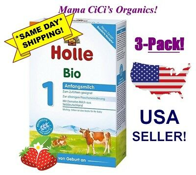 ***FREE EXPEDITED SHIPPING*** 3 BOXES Holle Organic Stage 1 Baby Infant Formula