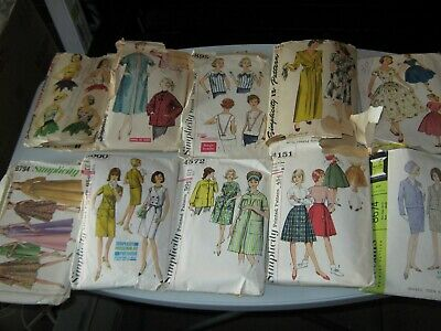 Vtg Lot of 11 Sewing Patterns Simplicity McCall's