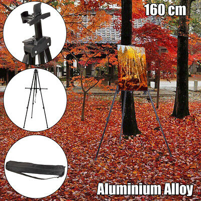 Folding Artist Telescopic Painting Easel Tripod Display Stand Craft Supply Black