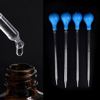 1Pc Glass Graduated Scale Dropper Pipette Transfer Pipettes Bulb Lab Tool RCUS