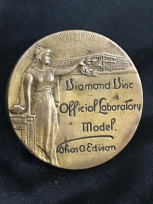 Edison Diamond Disc Phonograph Official Laboratory Model badge w/ Pin/tac Back