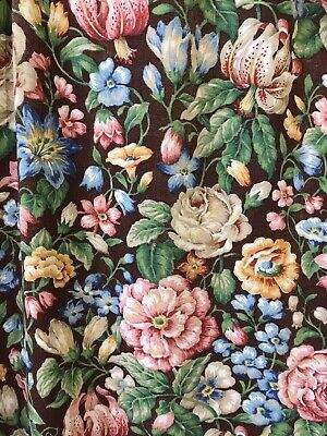 Vintage French Glazed Cotton Chintz Country House Panel 120/160cms