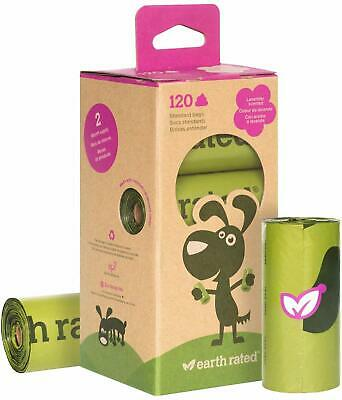Earth Rated Biodegradable Dog Waste Bags Lavender Scented Poo Poop Bags 120 Pcs