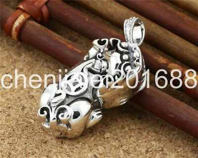 Pure S925 Sterling Silver Retro Fashion Chinese Style Brave Troops Pendant No