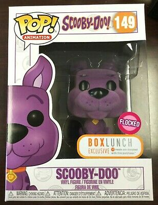 Funko Pop PURPLE FLOCKED SCOOBY-DOO 149 Box Lunch Exclusive W/Protector NEW MINT