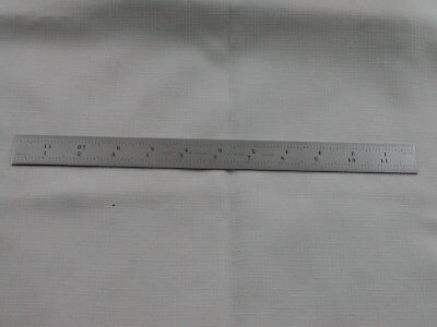 Starrett #C606R-12 Spring-Tempered Steel Rule With Inch Graduations