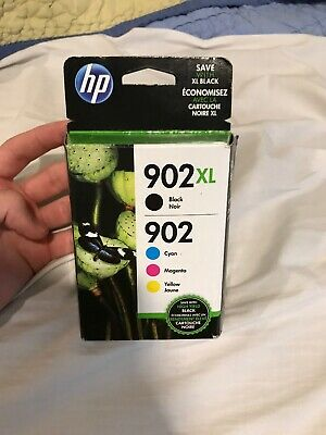 Genuine HP 902XL Black/902 Color Ink Cartridges T0A39AN NEW