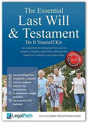 Last Will and Testament Kit 2019 UK | The Essential Pack | Simple to...