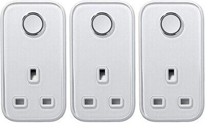 Hive Active Smart Plug , Silver - 3 Pack 3