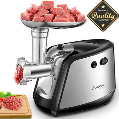 【Upgraded】Aobosi Electric Meat Grinder, 3-in-1 Stainless Steel Mincer...