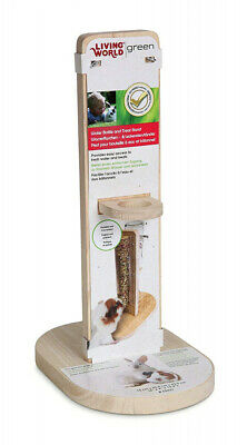 Living World Green Water Bottle and Seed Stick Stand Fits M