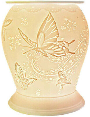 Cello Porcelain Burner, Silk Wings, Electric, Suitable for Scented Wax...