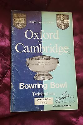 1977 Rugby Union Varsity Match: Oxford vs. Cambridge - 6/12/1977