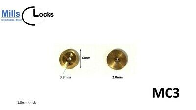 Clock Hour Hand Collet Brass Mantle, Bracket- L: 6mm x 3.8mm x 2mm (MC3)