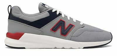 New Balance Men's 009 Shoes Grey with Navy & Red