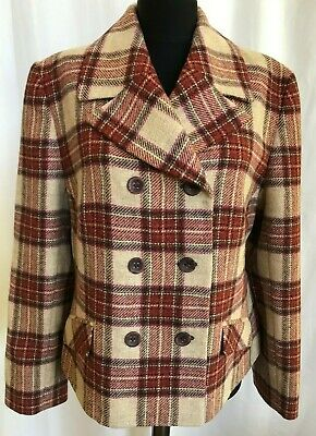 NOS Vintage LAURA ASHLEY Made in Poland Fall Plaid PURE NEW WOOL Jacket Blazer