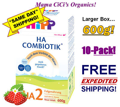 *FREE EXPEDITED SHIP* 10 BOXES HiPP Combiotic HA 2 Hypoallergenic Growing Up