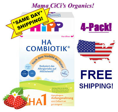 **FREE EXPEDITED SHIP!** 4 BOXES HiPP Combiotic HA 1 Hypoallergenic First Infant