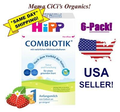 **FREE EXPEDITED SHIP** 6 BOXES HiPP Stage 1 Organic First Infant Milk Combiotic