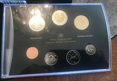 2006 Canada 7-Coin Specimen Set With Snowy Owl Loonie 1-Dollar Coin In Box Coa