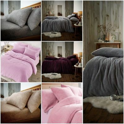 Teddy Bear Bedding Duvet Set Quilt Cover Extra furry Warm, Fluffy & Cosy Range