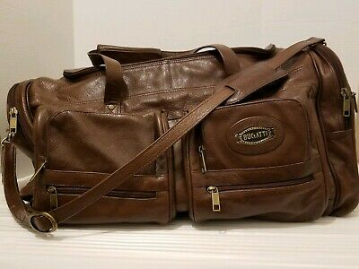 Vintage Bugatti large  Leather travel duffle Tote bag Suitcase WOW