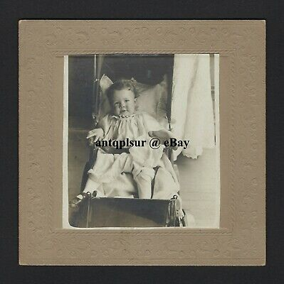 Cabinet Photo of Adorable Victorian Infant from Lloyd Family of Santa Rosa CA?
