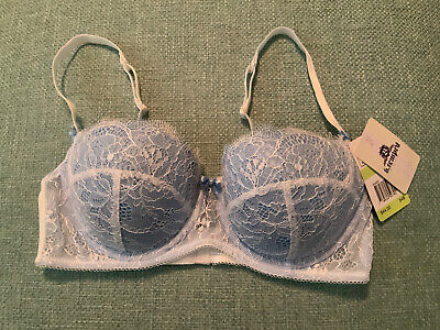 NWT B. Tempted By Wacoal 953261 SOFT Blue White Lace Bra ~Size 34B ✨🌟✨🌟34B