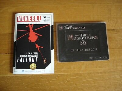 Mission Impossible: Fallout Moviebill 256/1200 & Three Musketeers In 3D Magnet