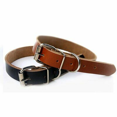 Cowhide Leather Cow Dog Collar Pet Puppy LeadsXS S M L leash available