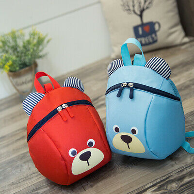 Cartoon Baby Toddler Kids Walking Safety Harness Strap Bag Backpack With Rein