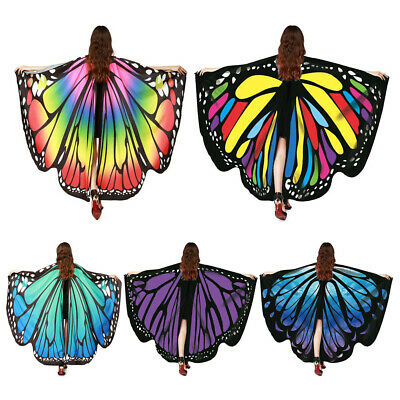 Butterfly Wings Fairy Costume Adult Outdoor Nymph Shawl Scarf Fancy Dress