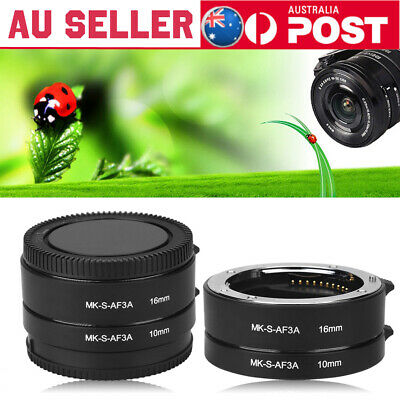Automatic Focus 10mm 16mm Macro Extension Adapter Tube for Sony E Mount Camera