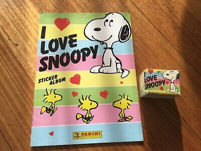 I LOVE SNOOPY STICKER ALBUM COMPLETE WITH ALL STICKERS (Not Inserted) By PANINI