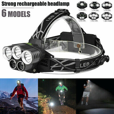 Zoomable LED Headlamp Hiking Rechargeable Headlight CREE XML T6 Head Torch